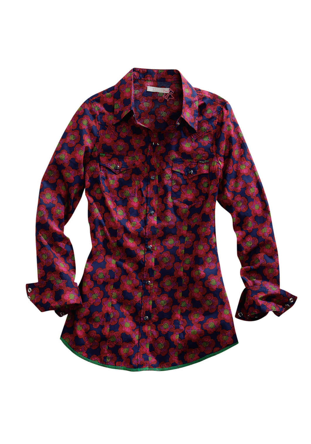Tin Haul Collection Tinhaul Ladies Long Sleeve Shirt 0250 Bouncy Floral Print