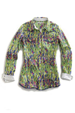 Tin Haul Collection Tinhaul Ladies Long Sleeve Shirt 9694 Multi Animal Print