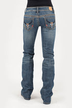 Tin Haul Gal's Jean - Dolly Fit Tinhaul Womens Jeans Aztec Steer Head Embroidered Deco Ows