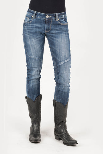 Tin Haul Gal's Jean - Trixie Fit Tinhaul Womens Jeans Tacked And Pieced Back Deco Pkt