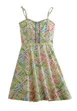 Tin Haul Collection Tinhaul Ladies Sleeveless Dress 0252 Watercolor Aztec Print