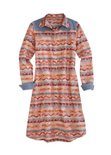 Tin Haul Collection Tinhaul Womens Long Sleeve Dress 00094 Printed Aztec Print Duster