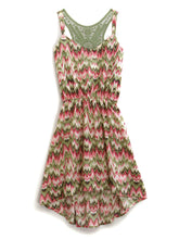 Tin Haul Collection Tinhaul Ladies Sleeveless Dress 9693 Pink Flame Print