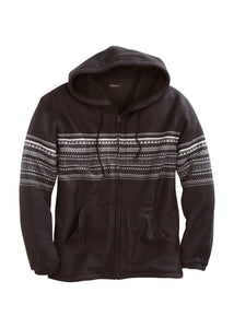 Tin Haul Collection Outer Mens Jacket 4013 Aztec Prt Polar Fleece Jacket