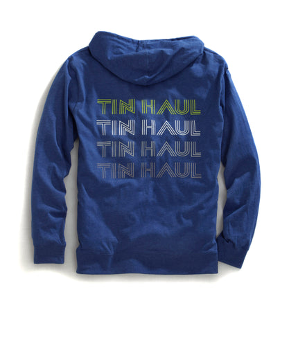 Tin Haul Collection- Funky Circle Tinhaul Mens Jacket 31056 Zip Up Hoodie Front Pkts Funky
