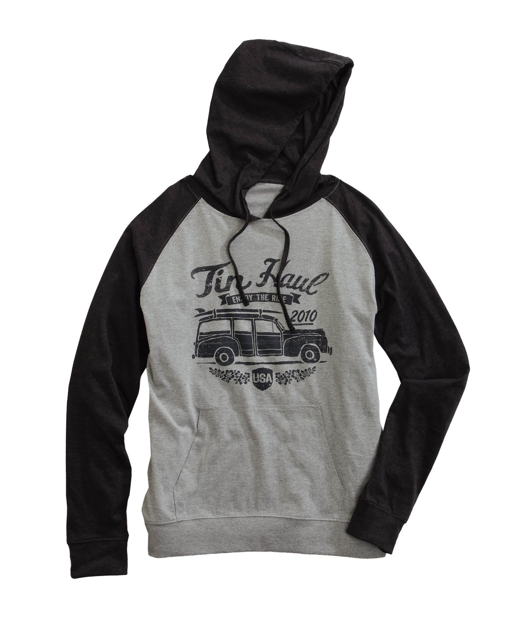 Tin Haul Hoodies Tinhaul Mens Jacket Color Block Hoodie With Car On Front