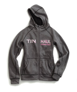 Tin Haul Hoodies Tinhaul Ladies Sweatshirt Pink Tin Haul Across Chest