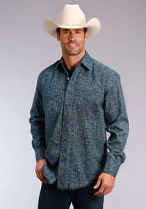 Stetson Men's Collection- Winter Ii Stetson Mens Long Sleeve Shirt 1281 Pin Point Foliage