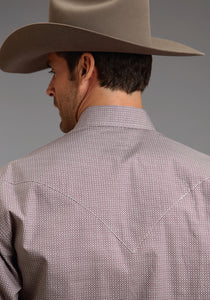 Stetson Men's Collection- Winter I Stetson Mens Long Sleeve Shirt 0599 Tiled Neat