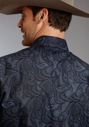 Stetson Men's Collection- Winter Iii Stetson Mens Long Sleeve Shirt 0597 Spotted Paisley
