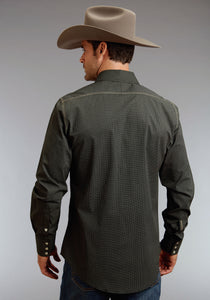 Stetson Men's Collection- Original Rugged Stetson Mens Long Sleeve Shirt 0752 Dots