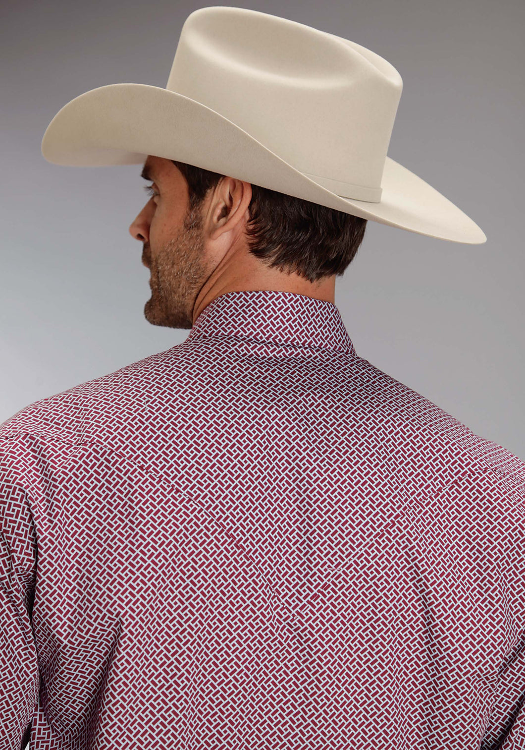 Stetson Men's Collection- Spring I Stetson Mens Long Sleeve Shirt 0827 Cornerstone Print