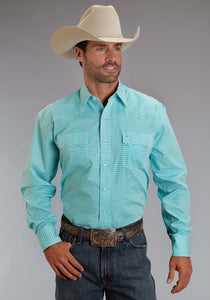 Stetson Men's Collection- Spring Iii Stetson Mens Long Sleeve Shirt 0826 Lava Lamps