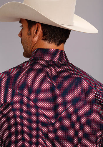 Stetson Men's Collection- Spring Ii Stetson Mens Long Sleeve Shirt 1506 Four Dot Foulard