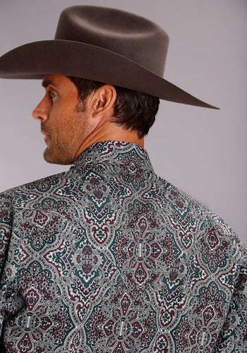 Stetson Men's Collection- Spring Ii Stetson Mens Long Sleeve Shirt 1507 Highland Paisley
