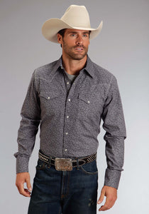Stetson Men's Collection- Original Rugged Stetson Mens Long Sleeve Shirt 0889 Vintage Floral