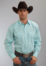 Stetson Men's Collection- Spring Iii Stetson Mens Long Sleeve Shirt 0211 Box Foulard