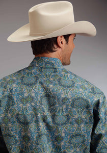 Stetson Men's Collection- Summer Iii Stetson Mens Long Sleeve Shirt 0363 French Paisley