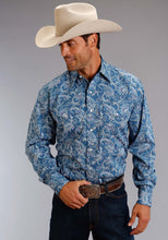 Stetson Men's Collection- Summer I Stetson Mens Long Sleeve Shirt 0989 Ornate Paisley