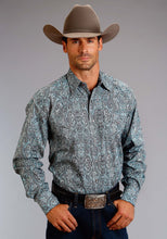Stetson Men's Collection- Summer Ii Stetson Mens Long Sleeve Shirt 0991 Vintage West Paisley