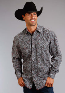 Stetson Men's Collection- Summer Iii Stetson Mens Long Sleeve Shirt 0990 Siren Paisley