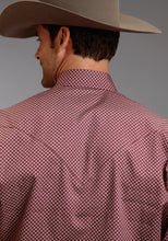 Stetson Men's Collection- Fall I Stetson Mens Long Sleeve Shirt 0574 Linked Circles Print
