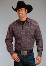 Stetson Men's Collection- Fall Ii Stetson Mens Long Sleeve Shirt 1176 Jettison Paisley