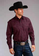 Stetson Men's Collection- Fall Iii Stetson Mens Long Sleeve 1861 Wine Medallion