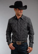 Stetson Men's Collection- Original Rugged Stetson Mens Long Sleeve Shirt 0695 Pin Point Floral