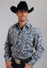 Stetson Men's Collection- Fall I Stetson Mens Long Sleeve Shirt 9932 Spyrograph Paisley Print