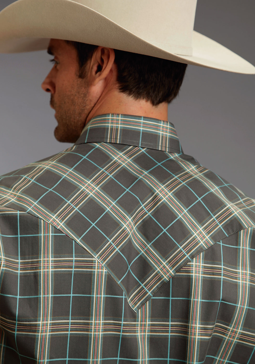 Stetson Men's Collection- Winter Ii Stetson Mens Long Sleeve Shirt 0593 Falcon Plaid