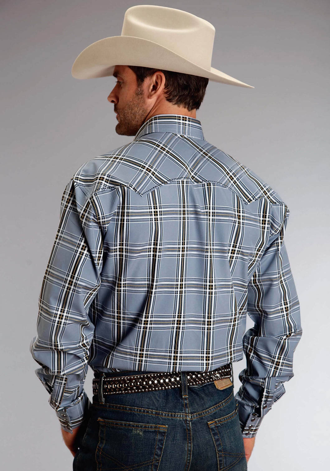 Stetson Men's Collection- Spring Ii Stetson Mens Long Sleeve Shirt 0824 Prospect Check