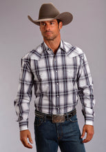 Stetson Men's Collection- Spring Ii Stetson Mens Long Sleeve Shirt 1512 Navy Plaid