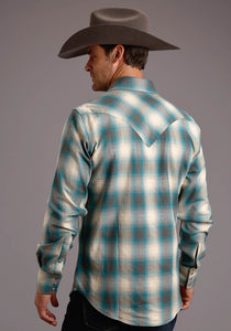 Stetson Men's Collection- Original Rugged Stetson Mens Long Sleeve 00446 Double Sided Plaid