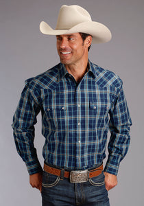Stetson Men's Collection- Fall Ii Stetson Mens Long Sleeve 1863 Stellar Plaid