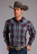 Stetson Men's Collection- Fall Iii Stetson Mens Long Sleeve 1862 Aubergine Plaid