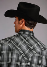 Stetson Men's Collection- Fall Iv Stetson Mens Long Sleeve 1865 Charcoal Plaid