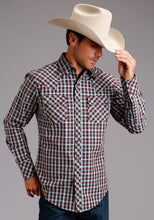 Stetson Men's Collection- Original Rugged Stetson Mens Long Sleeve 2221 Wine Check