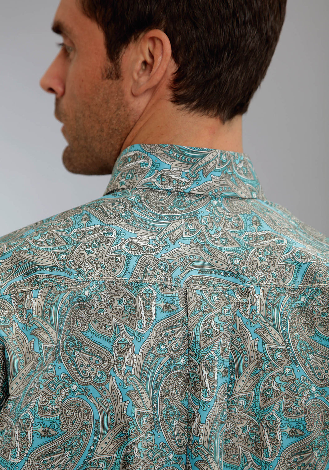 Stetson Men's Collection- Spring Iii Stetson Mens Long Sleeve Shirt 0212 Modern Paisley