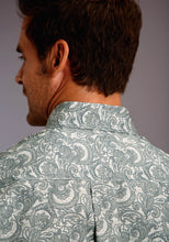 Stetson Men's Collection - Summer Ii Stetson Mens Long Sleeve 00199 Tooling Paisley