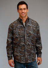 Stetson Men's Collection- Fall I Stetson Mens Long Sleeve Shirt 1174 Sand Painting Paisley