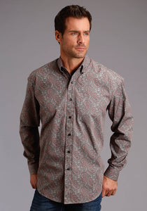 Stetson Men's Collection- Fall I Stetson Mens Long Sleeve 1858 Silt Paisley