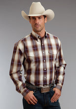 Stetson Men's Collection- Fall Iii Stetson Mens Long Sleeve Shirt 0580 Teak Ombre