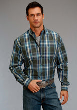 Stetson Men's Collection- Fall Iii Stetson Mens Long Sleeve Shirt 1172 Mineral Plaid