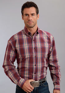 Stetson Men's Collection- Fall Ii Stetson Mens Long Sleeve Shirt 9926 Hearth Ombre