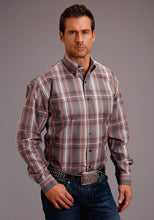 Stetson Men's Collection- Fall I Stetson Mens Long Sleeve 00283 Adobe Plaid