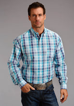 Stetson Men's Collection- Spring I Stetson Mens Long Sleeve 2568 Ombre Satin Check