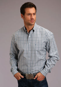 Stetson Men's Collection- Spring I Stetson Mens Long Sleeve 00065 Mist Check