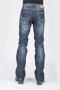 "Stetson Men's Collection-instock Stetson Mens Jeans Dark Wash Wdestruction ""x"" Emb On Pkt"