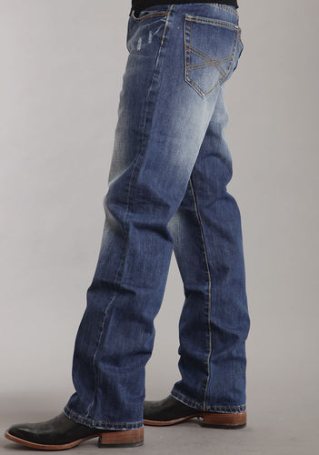 Stetson Men's Collection-instock Stetson Mens Jeans Med To Dark Wash Wtacking